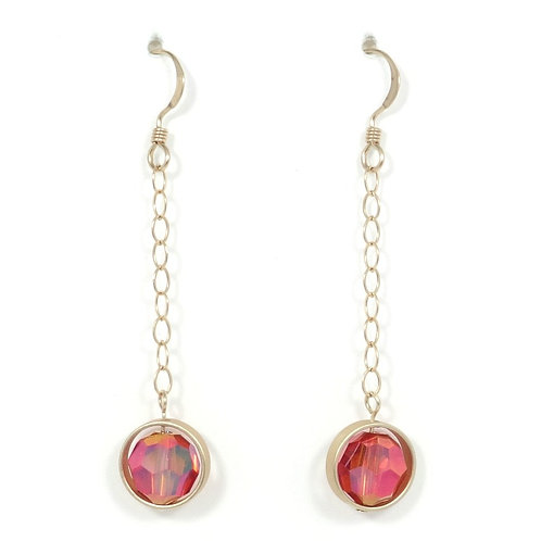 "SWAROVSKI ""ASTRAL PINK""  FRAMED EARRINGS"
