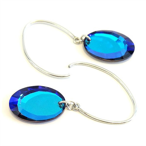 SWAROVSKI HELIOTROPE MIRROR EARRINGS