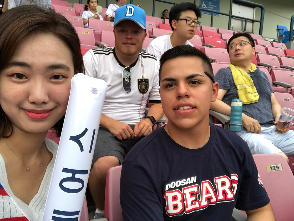 My deepest gratitudes to Jennifer (left) and Julian (right) for helping me get a ticket and providing company at my first Korean baseball game!