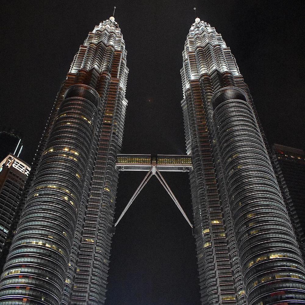 The Petronas Twin Towers in Kuala Lampur