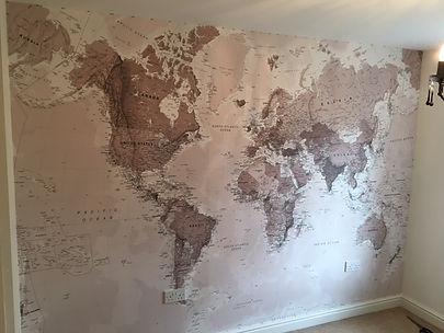 World wallpaper mural in Pewsey/Marlborough
