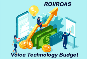 Voice technology budget chart showing rising ROI