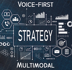 Graphical design of Voice-first, multimodal strategy from Whetstone Technologies