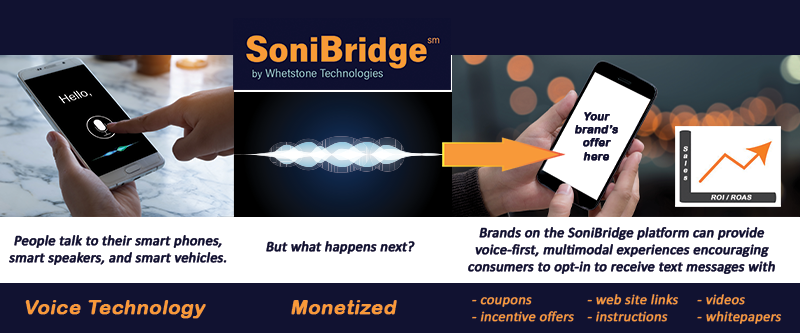 Photo of a mobile phone with a SoniBridge text message