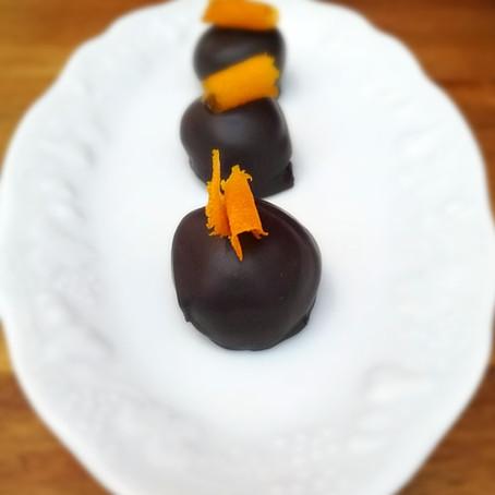 Citrus season and dark chocolate orange truffles