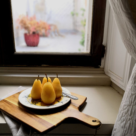 Spice Poached Pears
