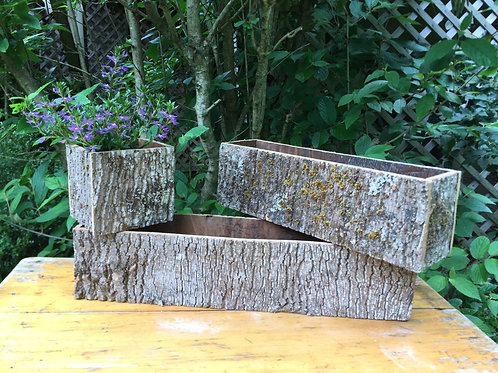 Handmade Bark Container - Small Square