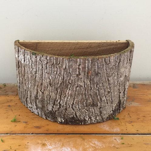 Handmade Bark Container - Half Round