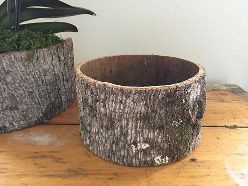Handmade Bark Container - Round