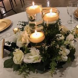 Greenery and White centerpiece