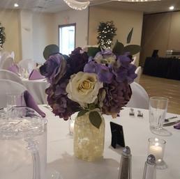 Rustic Purple Centerpiece