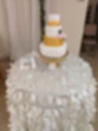 Taffeta table cloth with cake.jpg