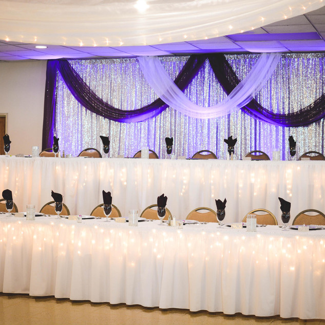 Backdrop and Head Table