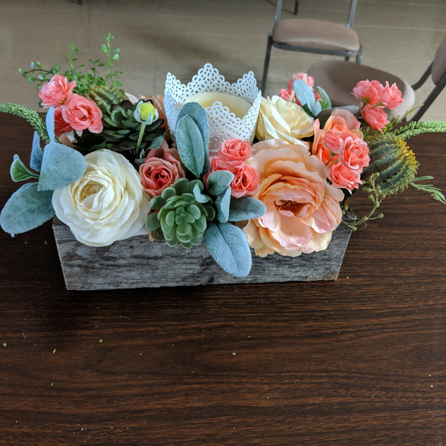 Succulent and coral centerpiece