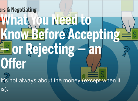 What You Need to Know Before Accepting - or Rejecting - an Offer