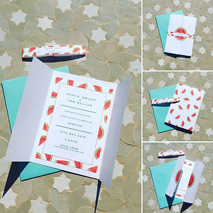 Handmade Bespoke Wedding Invitations Watermelon
