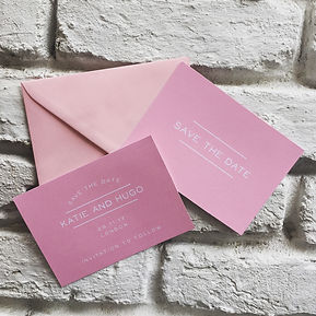 Handmade Bespoke Wedding Invitations Save the Date