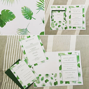 Handmade Bespoke Wedding Invitations Jungle Pocket