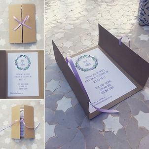 Handmade Bespoke Wedding Invitations Gatefold