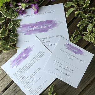 Handmade Bespoke Wedding Stationery Watercolour