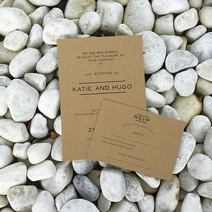 Handmade Bespoke Wedding Invitations Kraft