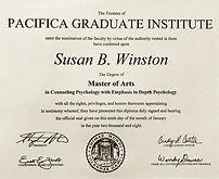 Susan Winston Diploma Pacifica GI