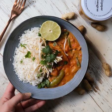 Diner: pinda-kokos curry