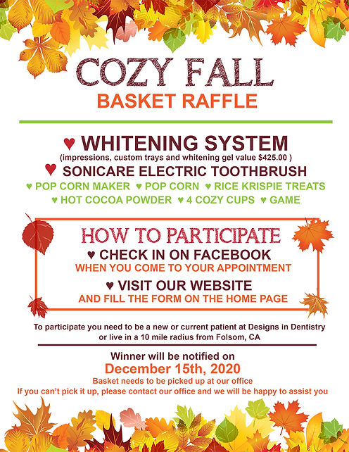 Enter our COZY FALL BASKET RAFFLE for we