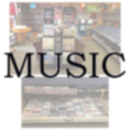New and used vinyl records, cds, cassettes, and local music