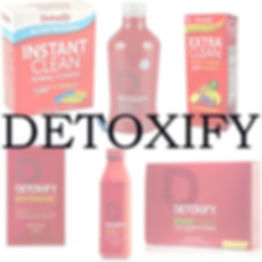 Detoxify products including Mega clean, Xxtra clean, Ready clean, Precleanse, Instant clean, etc