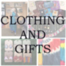 Clothes, jewelry, candles, posters, gifts, tye dye, bags, art
