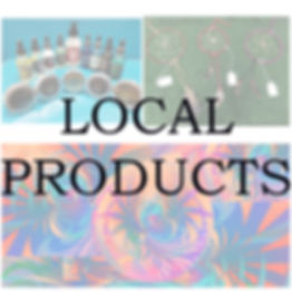 Art work, local music, local jewelry, local soaps, body oils, handmade gifts