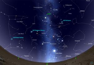 Carte du ciel, nuit du 15 au 16 décembre