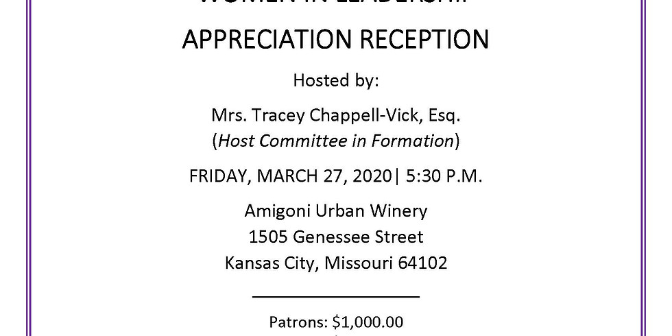 (POSTPONED) Women in Leadership Appreciation Reception