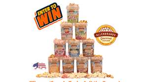 Best American popcorn in Nederland!                               'Allenbrands Gourmet Popcorn'