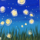 Fire Flies Canvas Painting