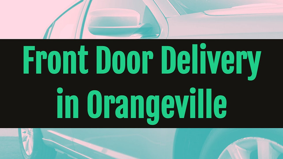 Delivery within the Orangeville Area