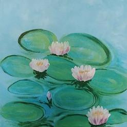 Monets Lilies canvas.jpg