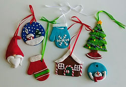 Christmas polymer clay ornaments.jpg