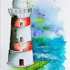Light House watercolour & Pen.jpg