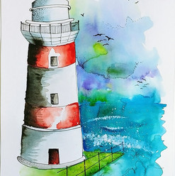 Light House watercolour & Pen.jpg
