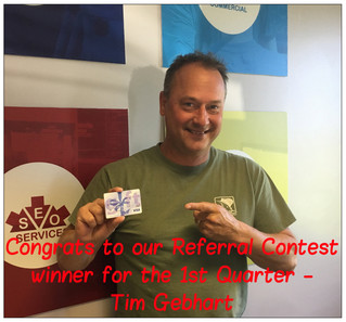 First Quarter Referral Contest Winner