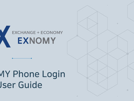 [Notice] EXNOMY Phone Login User Guide