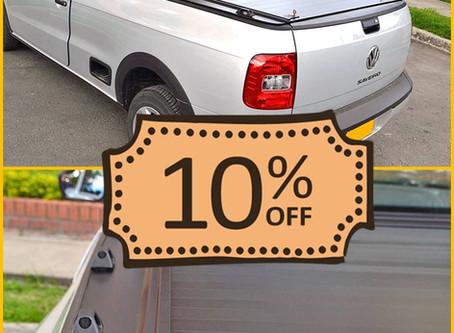 Cubierta Platino Volkswagen Saveiro - 🏄Descuento de Verano 🏖️ -10%