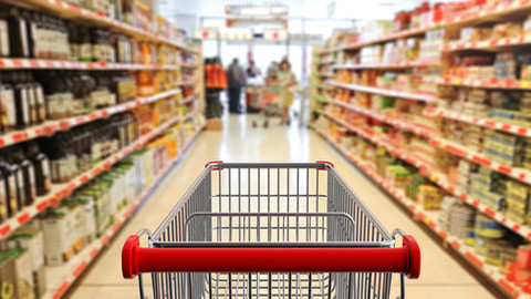 shopping-trolley-empty-with-red-handle-o