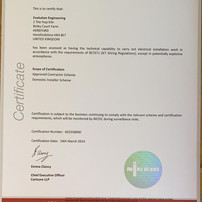 NiCEIC Certificate Approved Contractor Scheme