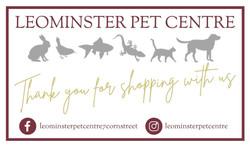 Leominster Pet Shop Gift Tag