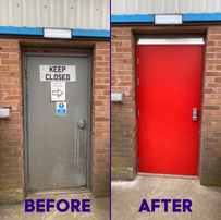 Replacement secutiry and fire door