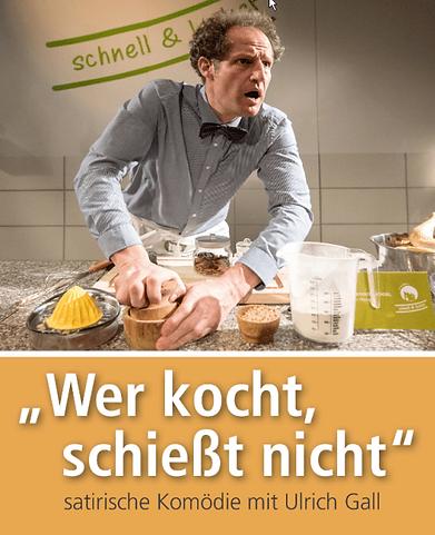 """Plakat """"Wer kocht, schiesst nicht"""""""