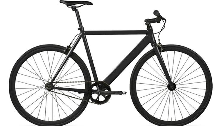 6KU Track fixie/single speed bike - black